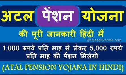 Atal Pension Yojana 2020 In Hindi